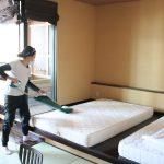 旅館・ホテル,布団,ベッド,ハウスダスト