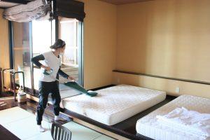 ホテルのベッド,旅館の寝具,ダニ除去,ハウスダスト除去